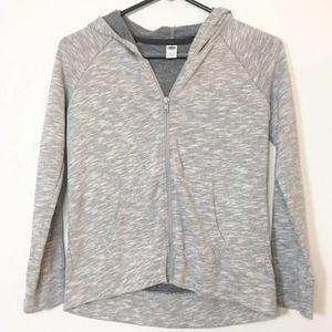 OLD NAVY GIRLS GRAY HOODIE SIZE L